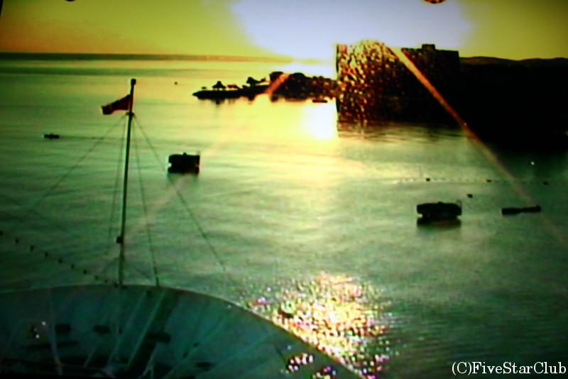 カリブ海クルーズ船 「カーニバル号」から見る朝日