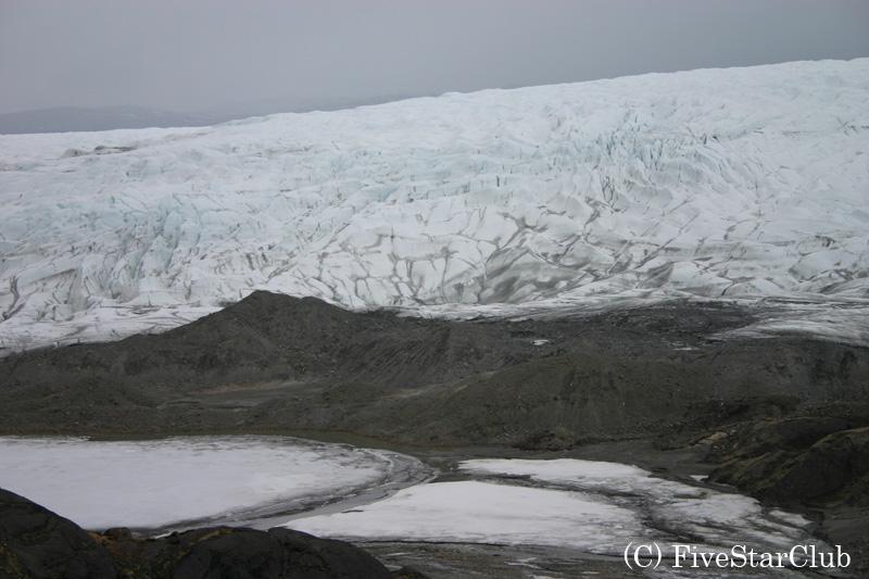 氷帽(氷冠)は氷河の先端のこと