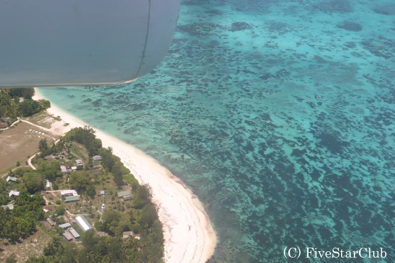 空から見たデニス島