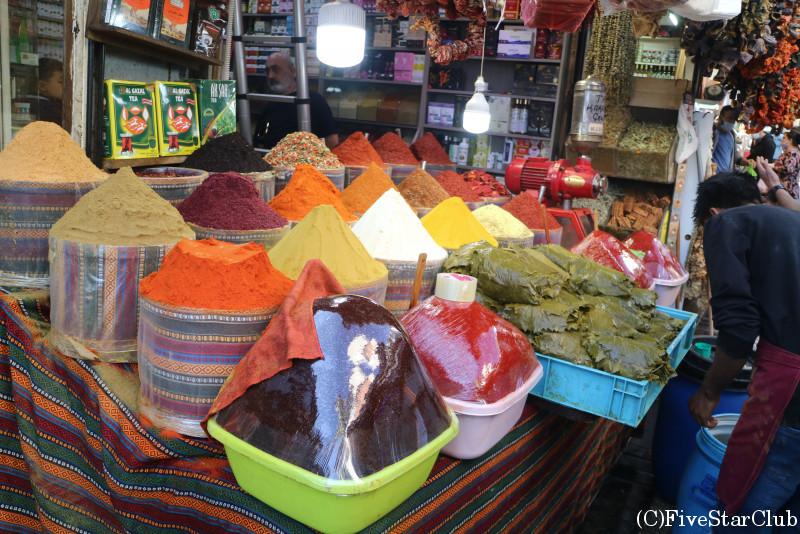 エジプシャンバザール外の商店街