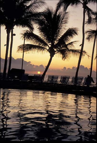 マウイ島の夕陽