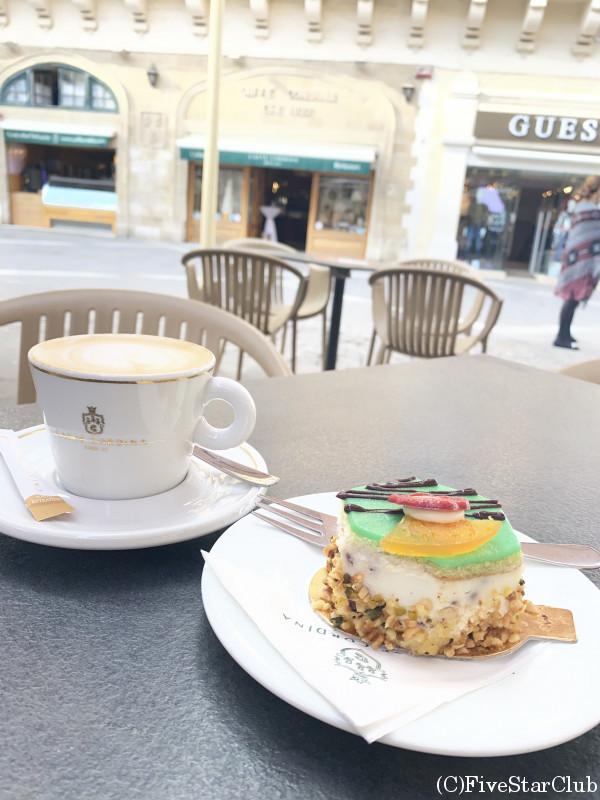 カフェラテ&リコッタチーズのケーキ