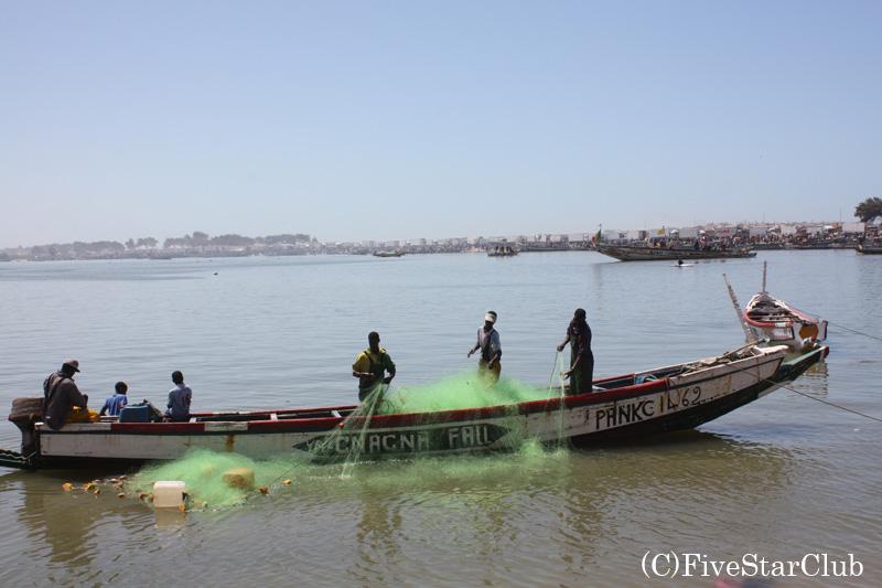 サンルイの漁港