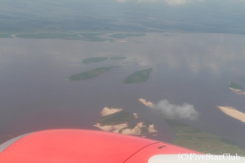 空から見たコンゴ川