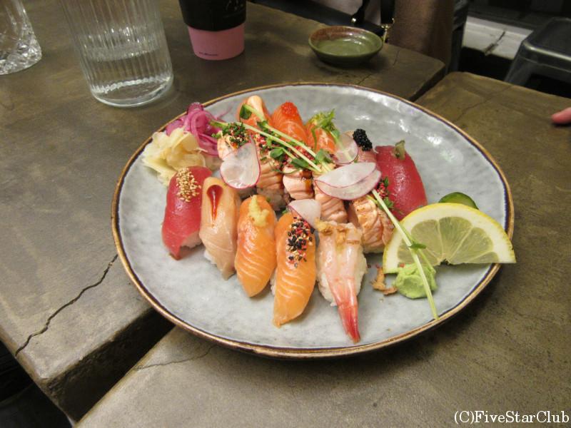 ガムラスタンにある創作寿司