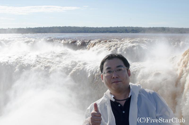 イグアス滝(アルゼンチン側・悪魔の喉笛)にて