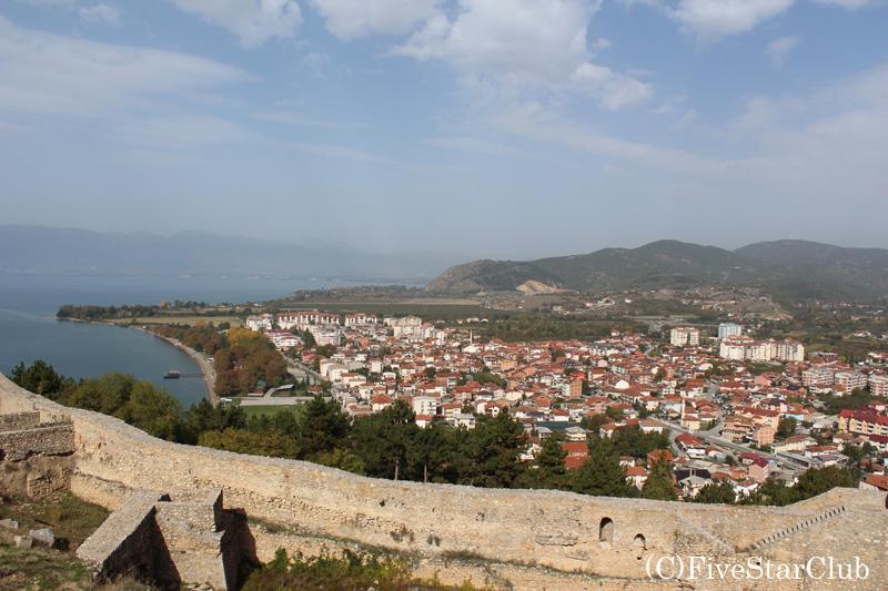 サミュエル要塞よりオフリドを眺望