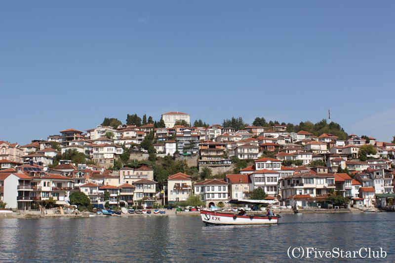 湖上から見た旧市街