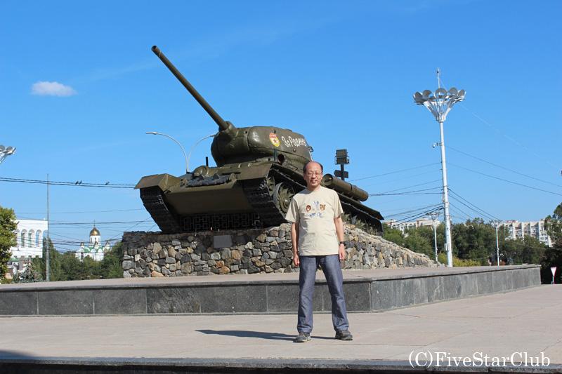 戦車の碑にて