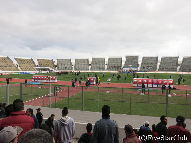 チュニジアサッカー観戦