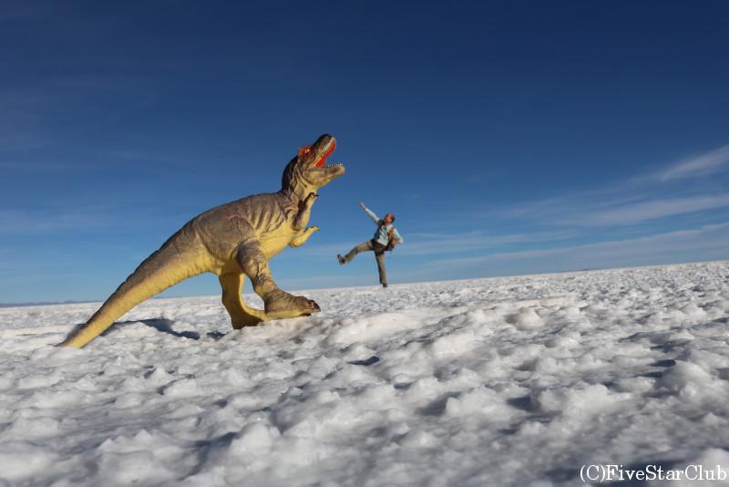 ウユニ塩湖/トリック写真