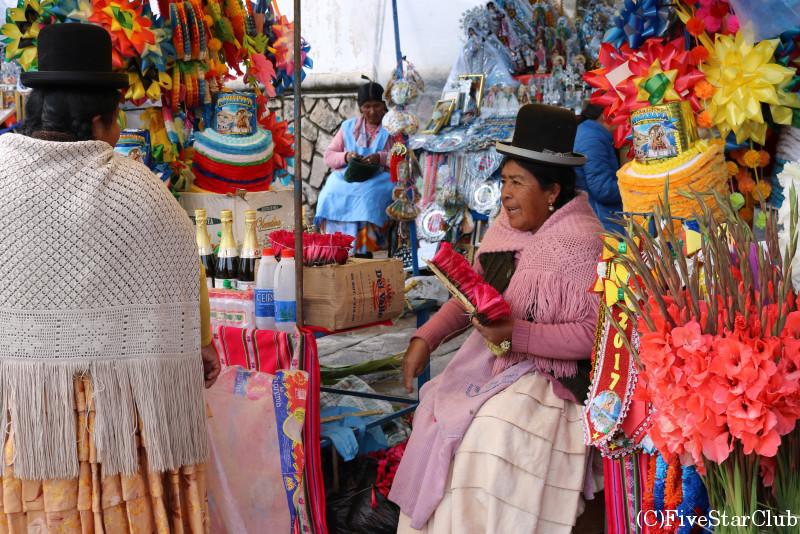 典型的なボリビアのおばさん