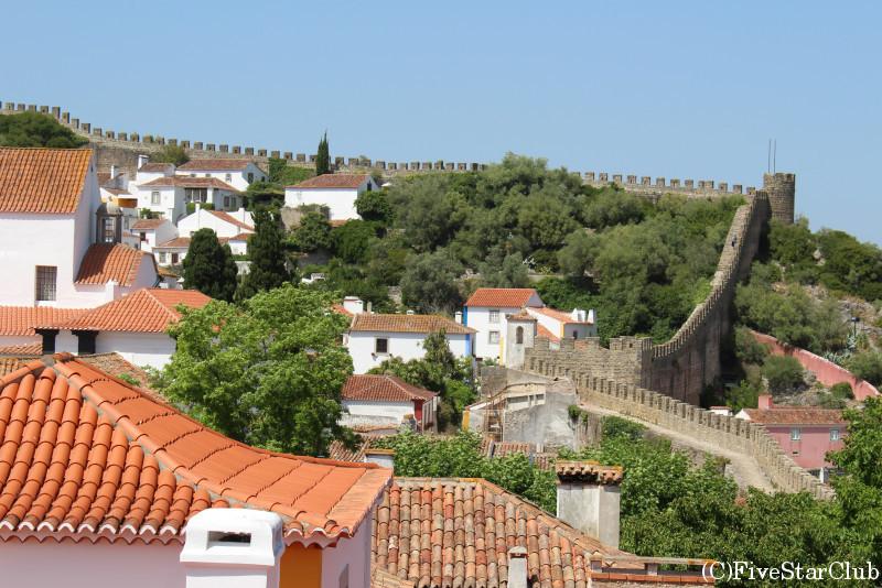 オビドスの城壁からの町並み