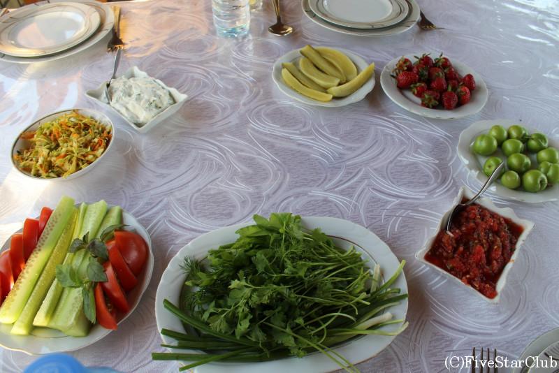 シェキレストラン アゼルバイジャン料理 前菜