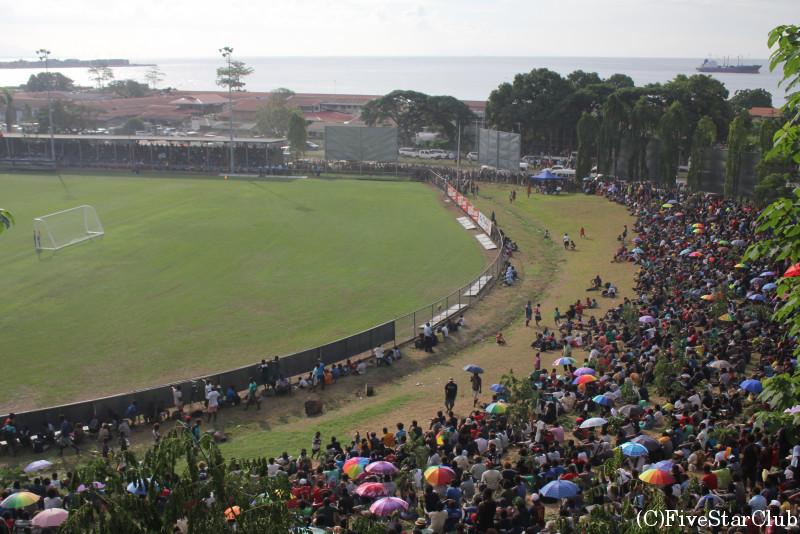 サッカーW杯予選 ソロモン諸島-パプアニューギニア戦を観戦