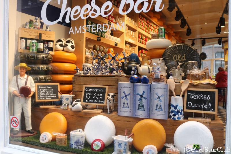 オランダ名物、チーズ屋さん