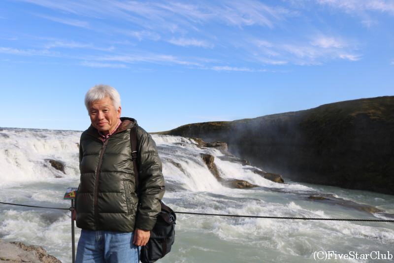 グトルフォス滝(黄金の滝)
