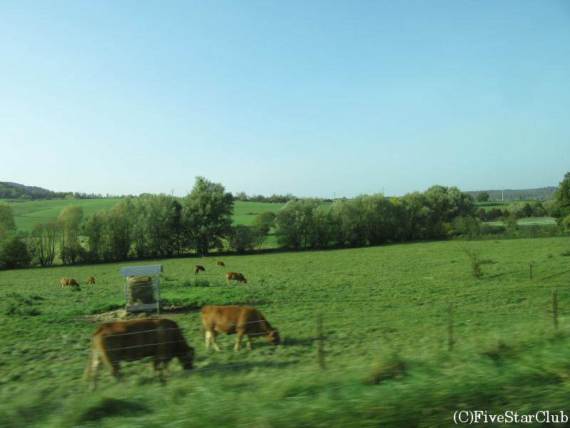 田園風景の車窓