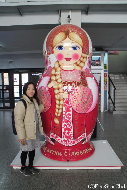 ウラジオストク駅/巨大マトリョーシカ