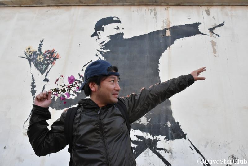 バンクシーの壁画