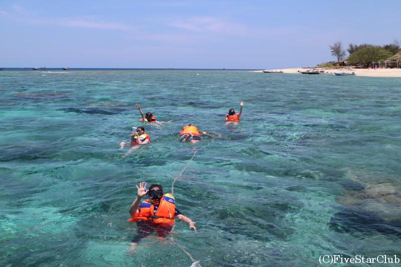 ギリの海でシュノーケリング