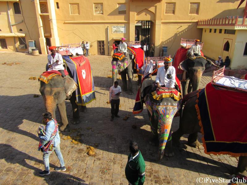 アンベール城の象乗り場