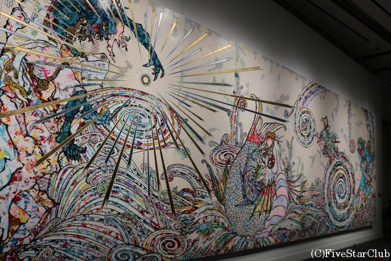 ボストン美術館 館内 村上隆の展示