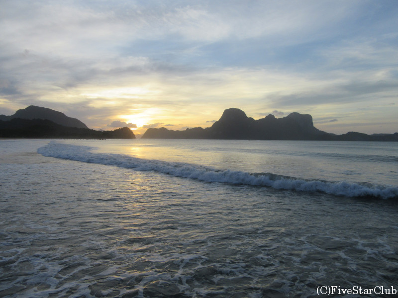 リオ・ビーチの夕日