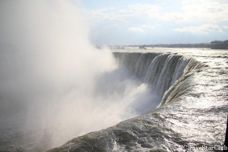 しぶきをあげるナイアガラ滝