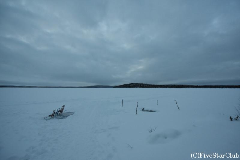 ホテル コルピカルタノ オーロラ観測ができる凍った湖
