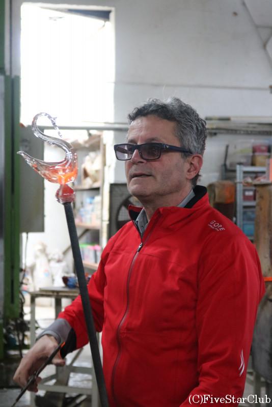 ヴァレッタガラスの工房訪問