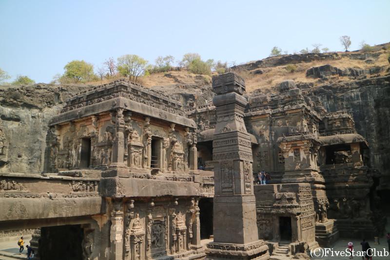 世界遺産エローラの石窟寺院 第16石窟 カイラサナータ寺院