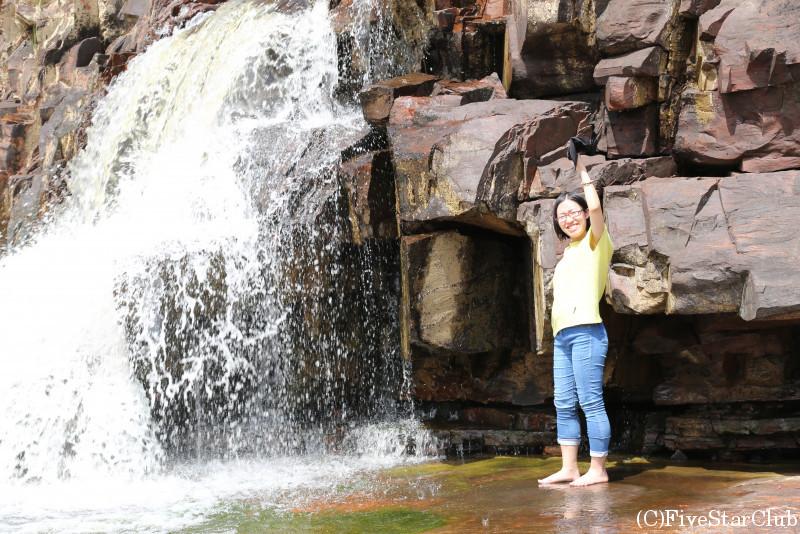 オリンデュイック滝にて