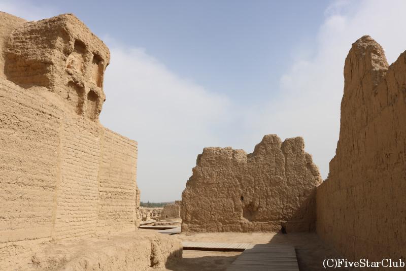世界遺産の交河故城