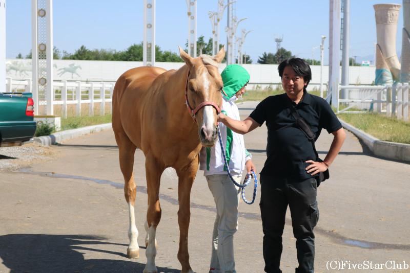 アハルテケ馬のトレーニングセンター