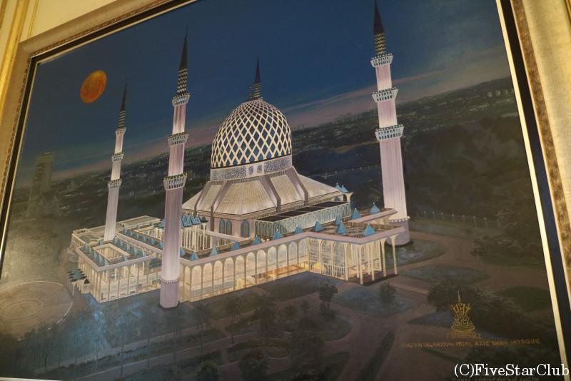 アラムシャー王宮 王宮お抱えの絵かきが描いたブルーモスク