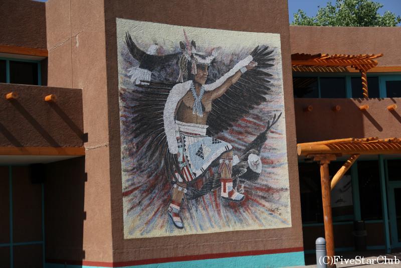 プエブロカルチャーセンター インディアンの壁画