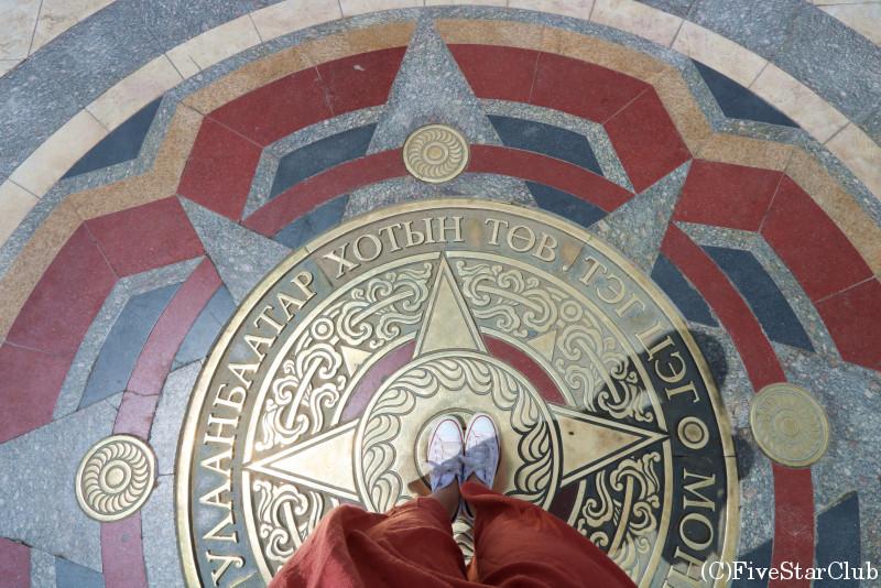 スフバートル広場 ウランバートルの真ん中に立った!