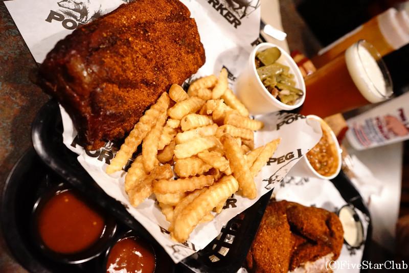ポークリブの有名店 Peg Leg Porker BBQ