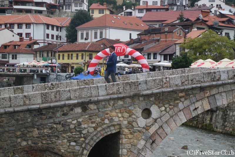 ビストリツァ川にかかる石橋