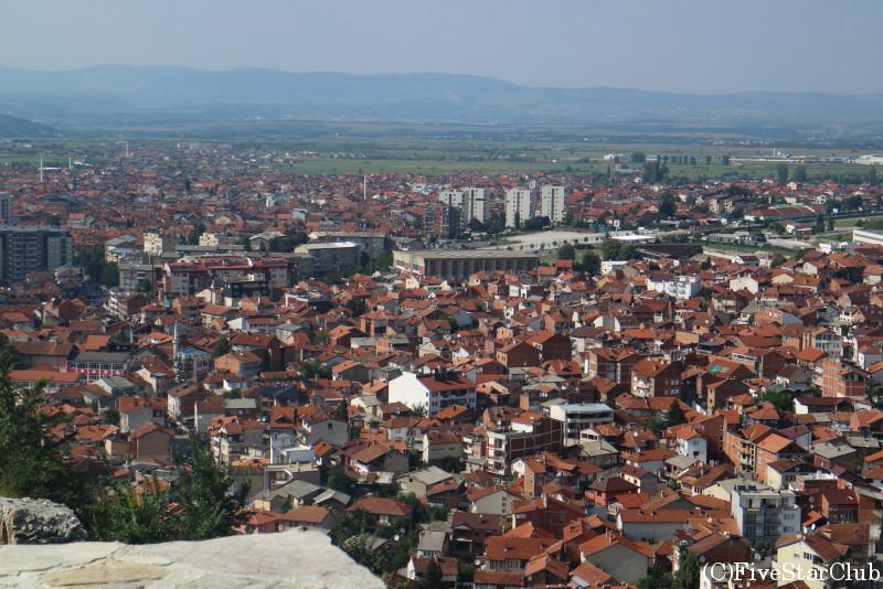 プリズレン城塞からの眺め