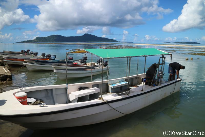 ブルーラグーンの船着き場