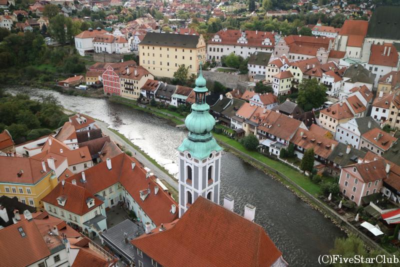 塔からの街の眺め/チェスキー・クルムロフ城