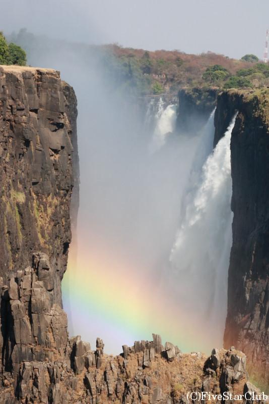 ザンビア側から見たビクトリアフォールズ