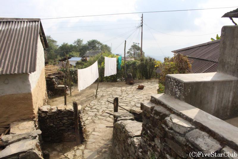 伝統家屋が立ち並ぶ村