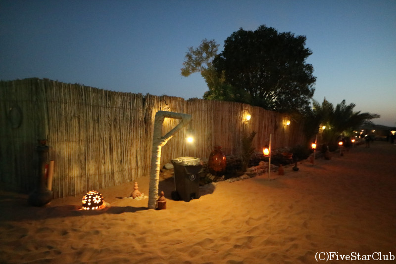 砂漠キャンプサイト