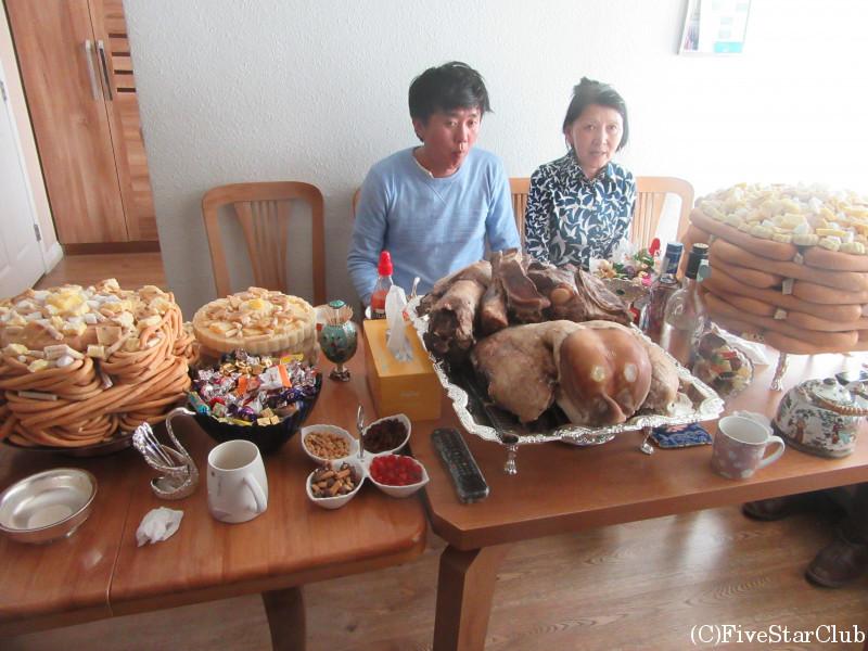 モンゴル正月体験 ガイドさん親戚宅を訪問