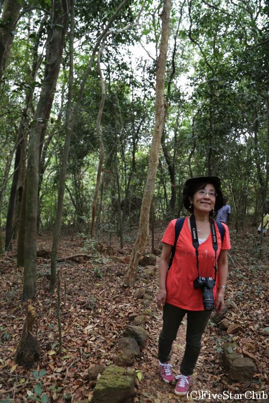 カクマガ・チンパンジー保護区にて