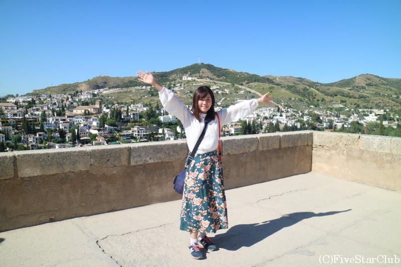アルハンブラ宮殿 要塞アルカサバにて