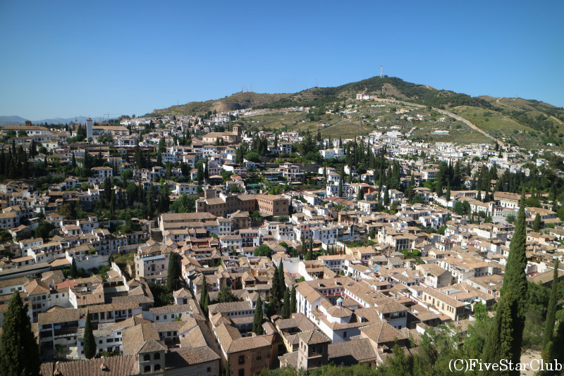 アルハンブラ宮殿 要塞アルカサバからの景色